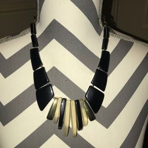 Black and clear necklace